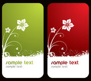 Floral business cards royalty free stock image