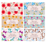 Floral business cards Stock Photography