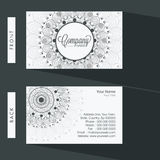 Floral business or visiting card design. Stock Photo