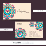 Floral business or visiting card design. Stock Photography