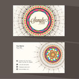 Floral business or visiting card design. Royalty Free Stock Photography