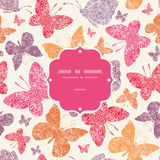 Floral butterflies frame seamless pattern Stock Image