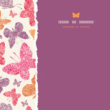 Floral butterflies frame square seamless pattern Stock Photos