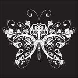 Floral butterfly. The butterfly made of a flower ornament Royalty Free Stock Photo