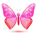 Floral Butterfly Stock Photo