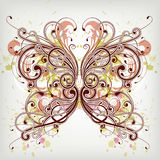 Floral butterfly. Illustration drawing of floral butterfly Royalty Free Stock Photography