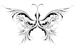 Floral butterfly Royalty Free Stock Images