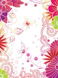 Floral & butterfly. Illustration of floral and butterfly Stock Photography