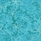Floral butterfly abstract background, seamless Royalty Free Stock Photos