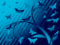 floral butterfly background Stock Images