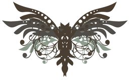 Floral butterfly. Floral dangerous butterfly can be used as a decorative element, a tattoo and other Royalty Free Stock Photography