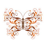 Floral butterfly design element Stock Photo
