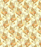 Floral and Butterfly Pattern Royalty Free Stock Image