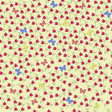 Floral butterfly seamless pattern. Flowers and butterflies Stock Photography