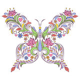 Floral butterfly Stock Photography