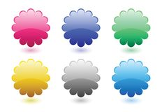 Floral button set Royalty Free Stock Images