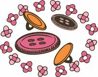 Floral Buttons Royalty Free Stock Photography