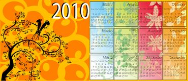Floral calendar Stock Photos
