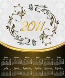 Floral Calendar For Year 2011, In Spanish Stock Photo