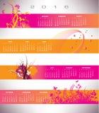 2016 Floral calendar. 2016 Floral grunge banner calendar Royalty Free Stock Photos