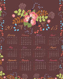 Floral 2015 calendar Royalty Free Stock Image