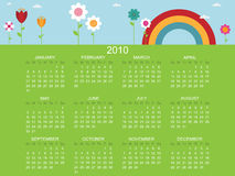 Floral calender for 2010 Royalty Free Stock Photo