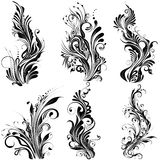 Floral Calligraphic Design Stock Image