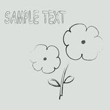 Floral card. Sample text flowers card Stock Images