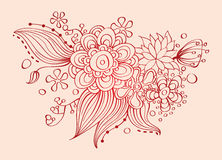 Floral card Stock Photos