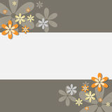 Floral card Royalty Free Stock Photos