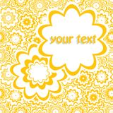 Floral card. Abstract floral banner in white Stock Photos