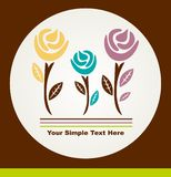 Floral card Royalty Free Stock Image