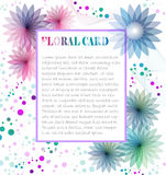Floral Card Royalty Free Stock Images