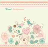 Floral  card. Background beauty vintage wedding Stock Image