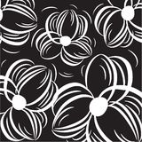 Floral card with abstract flowers. Stock Images