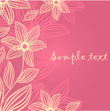 Floral card with abstract flowers. Royalty Free Stock Photos