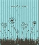 Floral card with abstract flowers. Royalty Free Stock Image