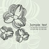 Floral card with abstract flowers. Royalty Free Stock Photography