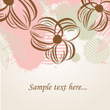 Floral card with abstract flowers. Stock Photo