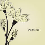 Floral card with abstract flowers. Royalty Free Stock Photo