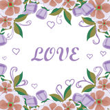 Floral card acceptance with love Stock Photography