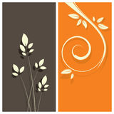 Floral card background stock illustration