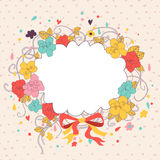 Floral card Stock Photos