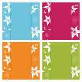 Floral card backgrounds Royalty Free Stock Image