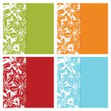 Floral card backgrounds Stock Photo