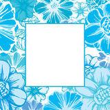Floral card in blue Stock Image