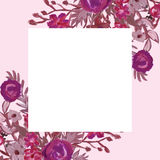Floral card. Bouquet. Royalty Free Stock Image