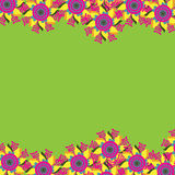 Floral card with bright flower, vector image Stock Image