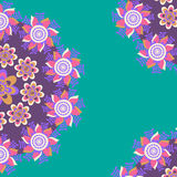 Floral card with bright flower, vector image Royalty Free Stock Photo