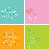 Floral card collection. A beautiful floral card collection for four Stock Photography